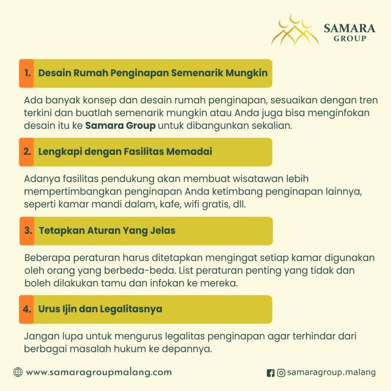 7 Tips Menyiapkan Rumah Penginapan Ala Samara