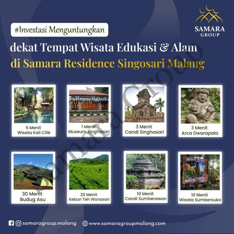 Dekat Tempat Wisata & Alam di Samara Residence Singosari Malang