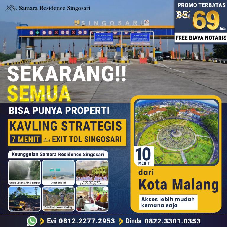 Promo Samara Residence Singosari 19 September 2021